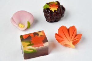 ティータイムやおもてなしに、今月の上生菓子は「彩りの秋」