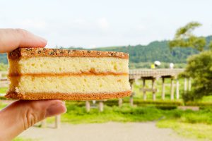 食べれば幸せに!? 蓬莱橋スイーツ「幸福サンド」