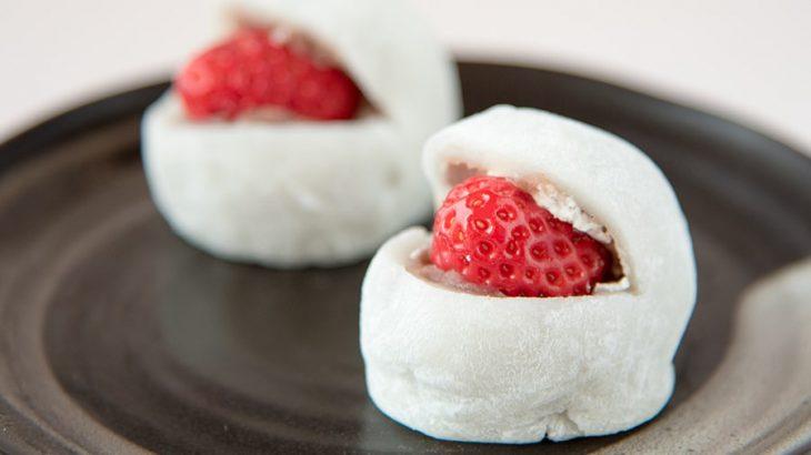 生クリームと旬のイチゴの絶品大福、食べるなら今!