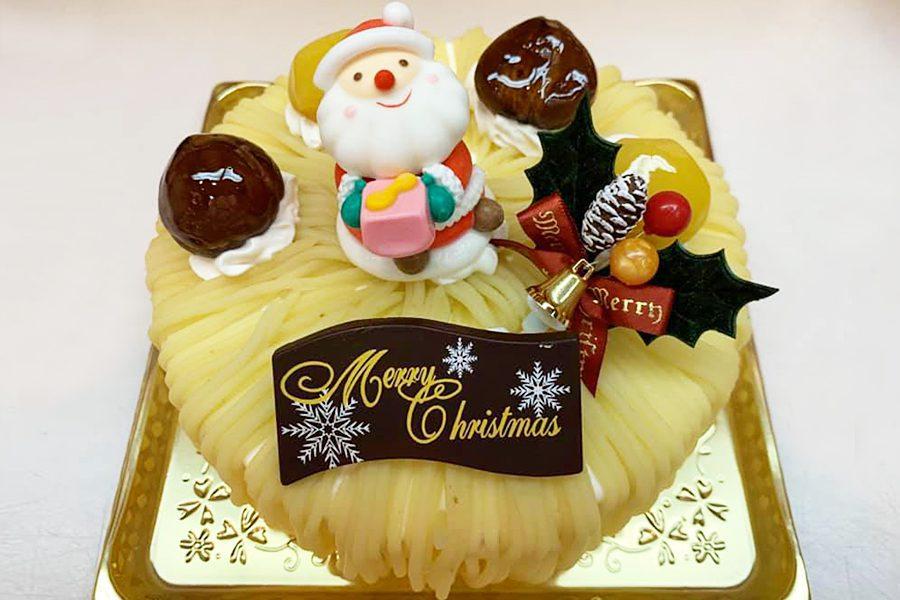 クリスマスモンブランデコレーションケーキ